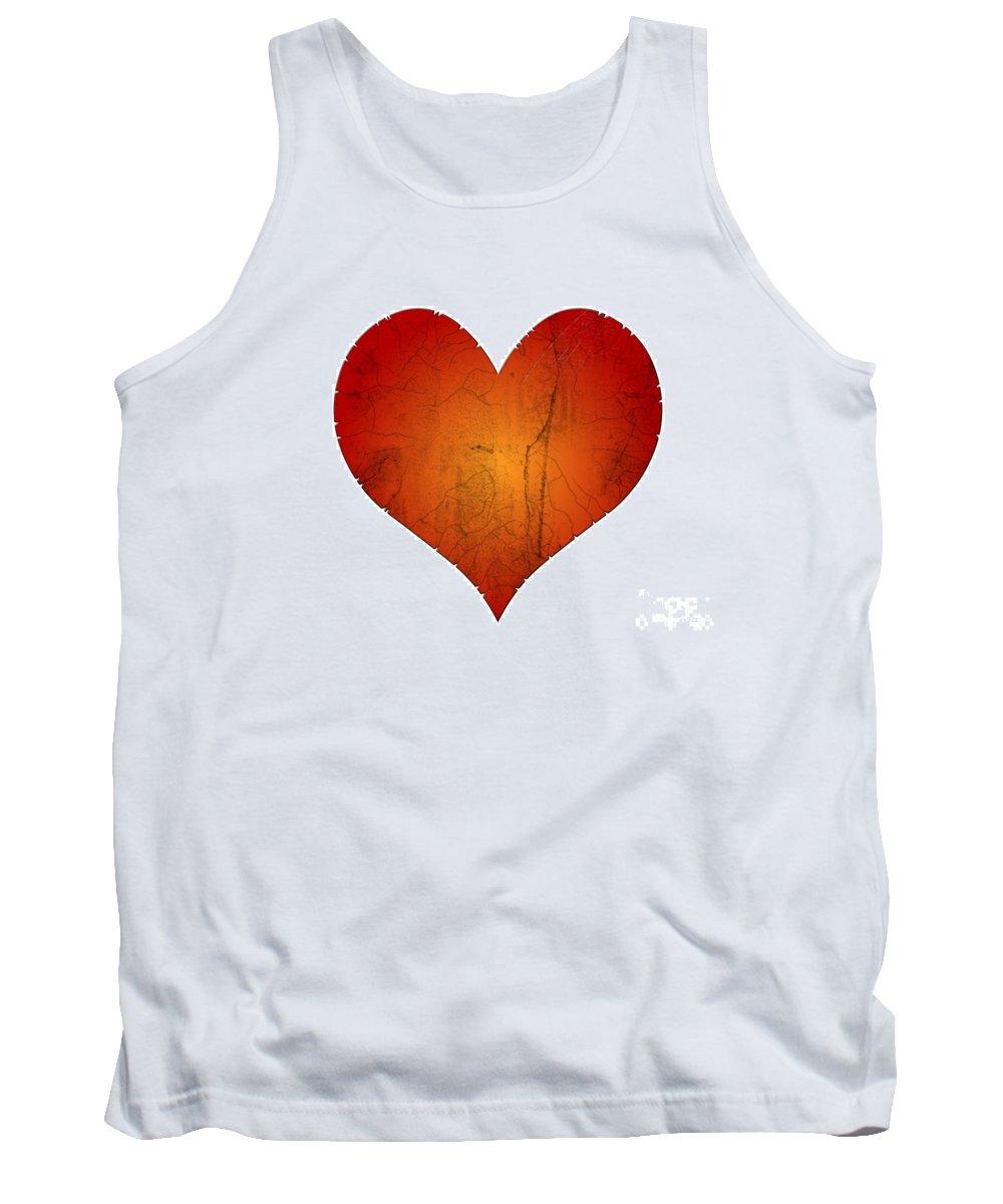 Heart Tank Top featuring the digital art Broken Heart by Michal Boubin