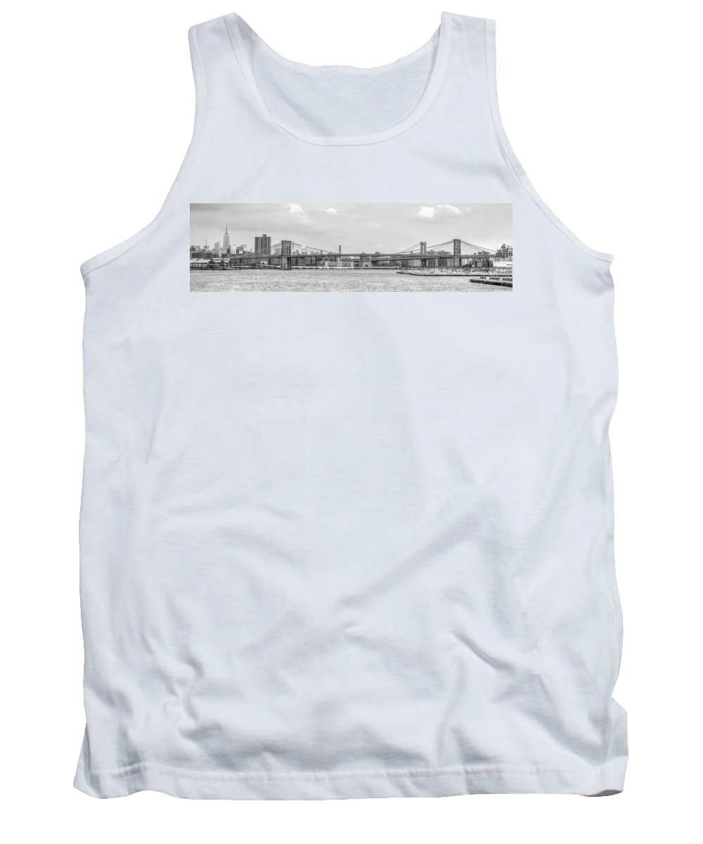 New York Tank Top featuring the photograph Brooklyn Bridge by Alex Hiemstra