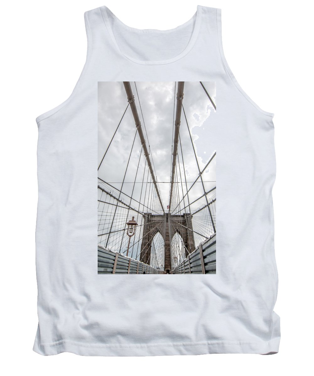 America Tank Top featuring the photograph Brooklyn Bridge by Amel Dizdarevic