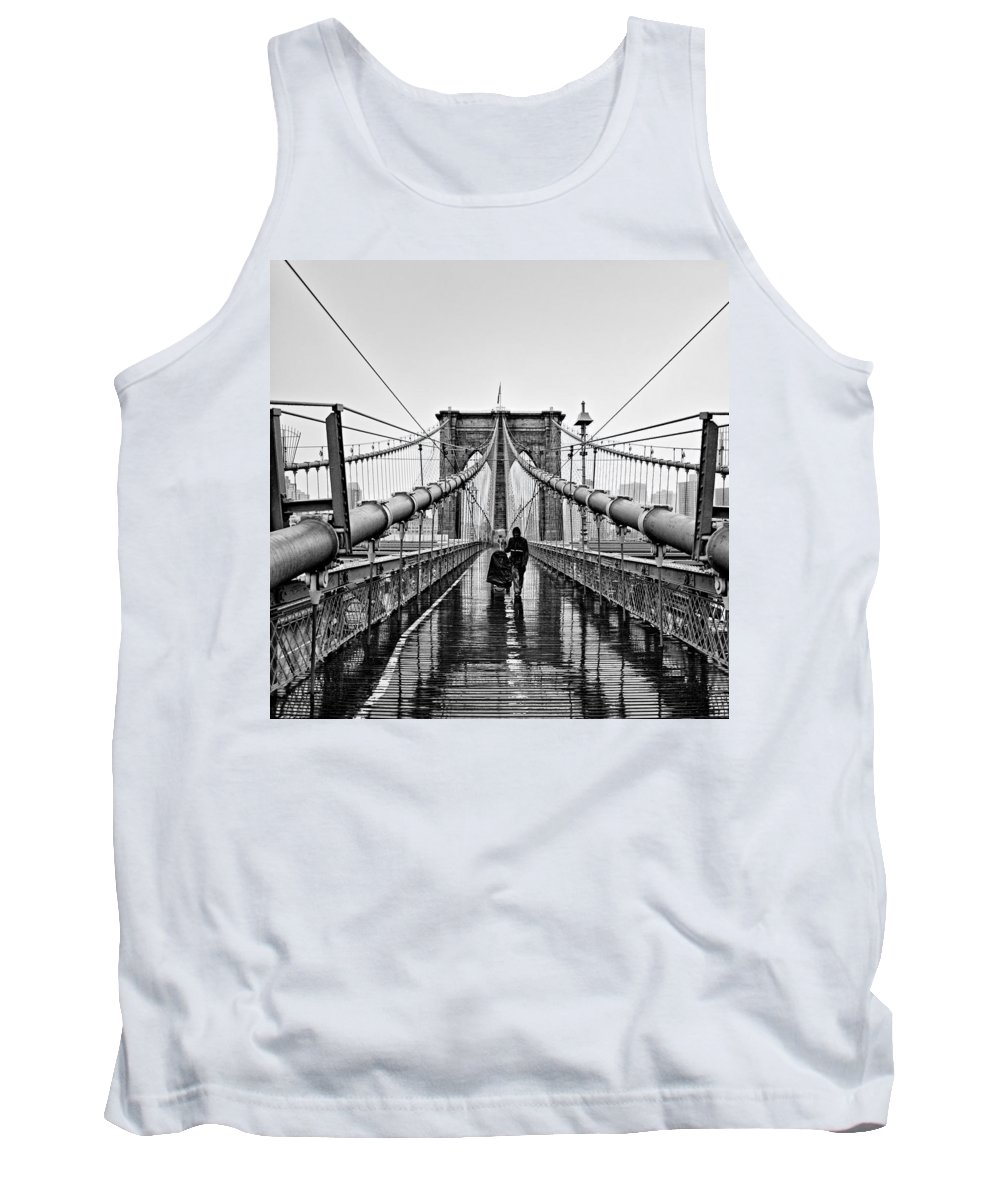 Nyc Tank Top featuring the photograph Brookyln Bridge by Raymond Skwire