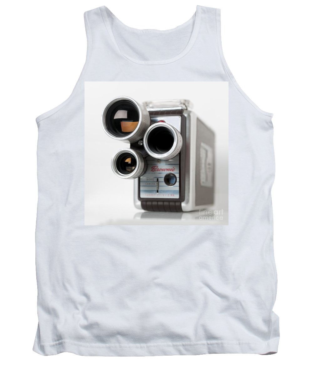 Movie Camera Tank Top featuring the photograph Brownie Movie Camera by Art Whitton