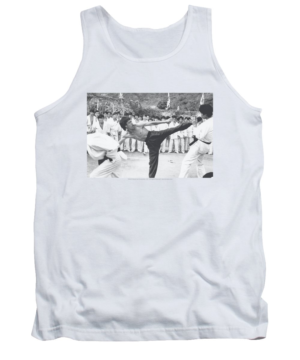 Bruce Lee Tank Top featuring the digital art Bruce Lee - Kick To The Head by Brand A