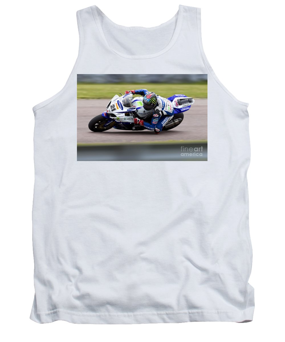 Superbike Tank Top featuring the photograph Bsb Superbike Rider John Hopkins by Andrew Harker