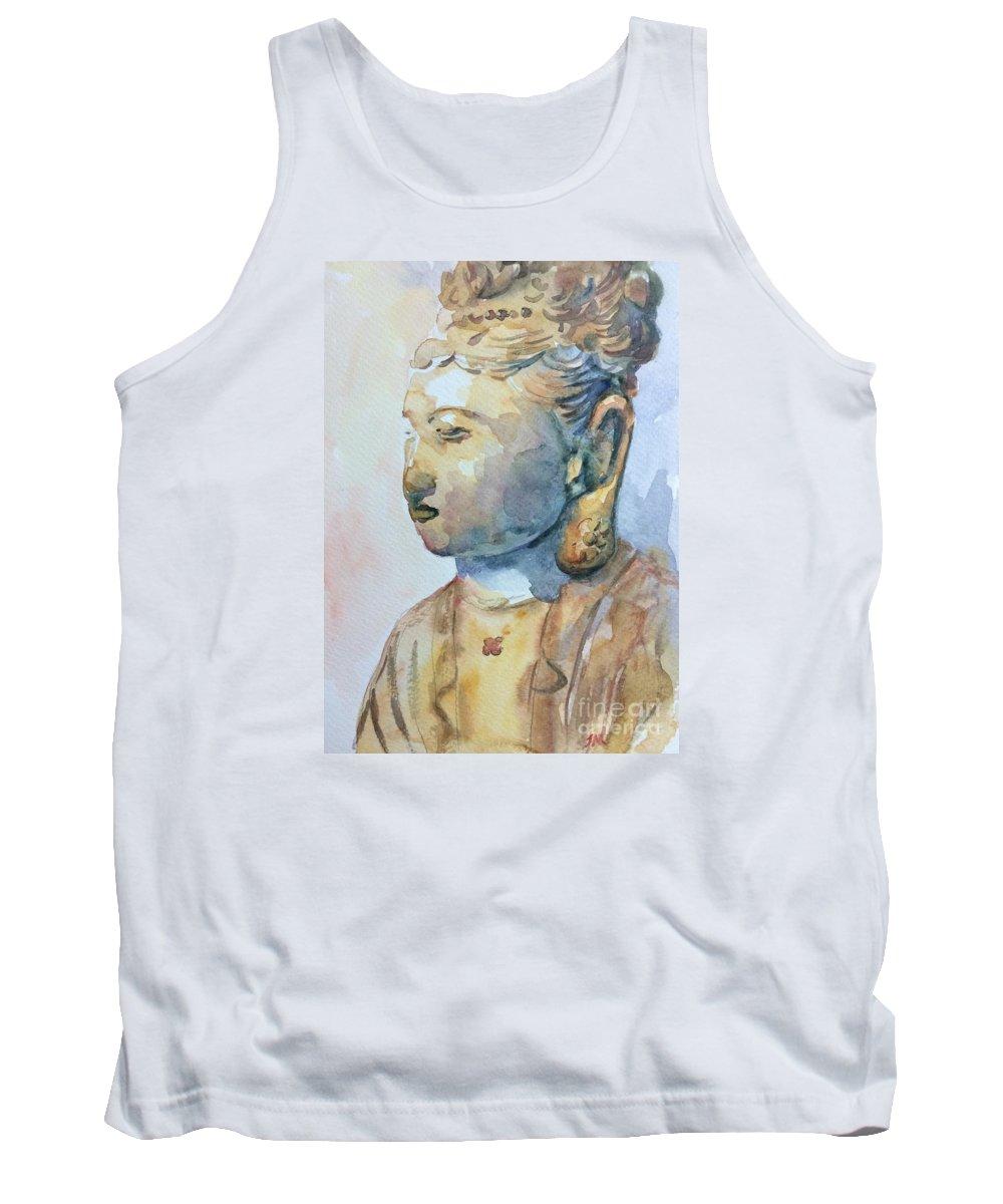 Buddha Tank Top featuring the painting Buddha by Jieming Wang