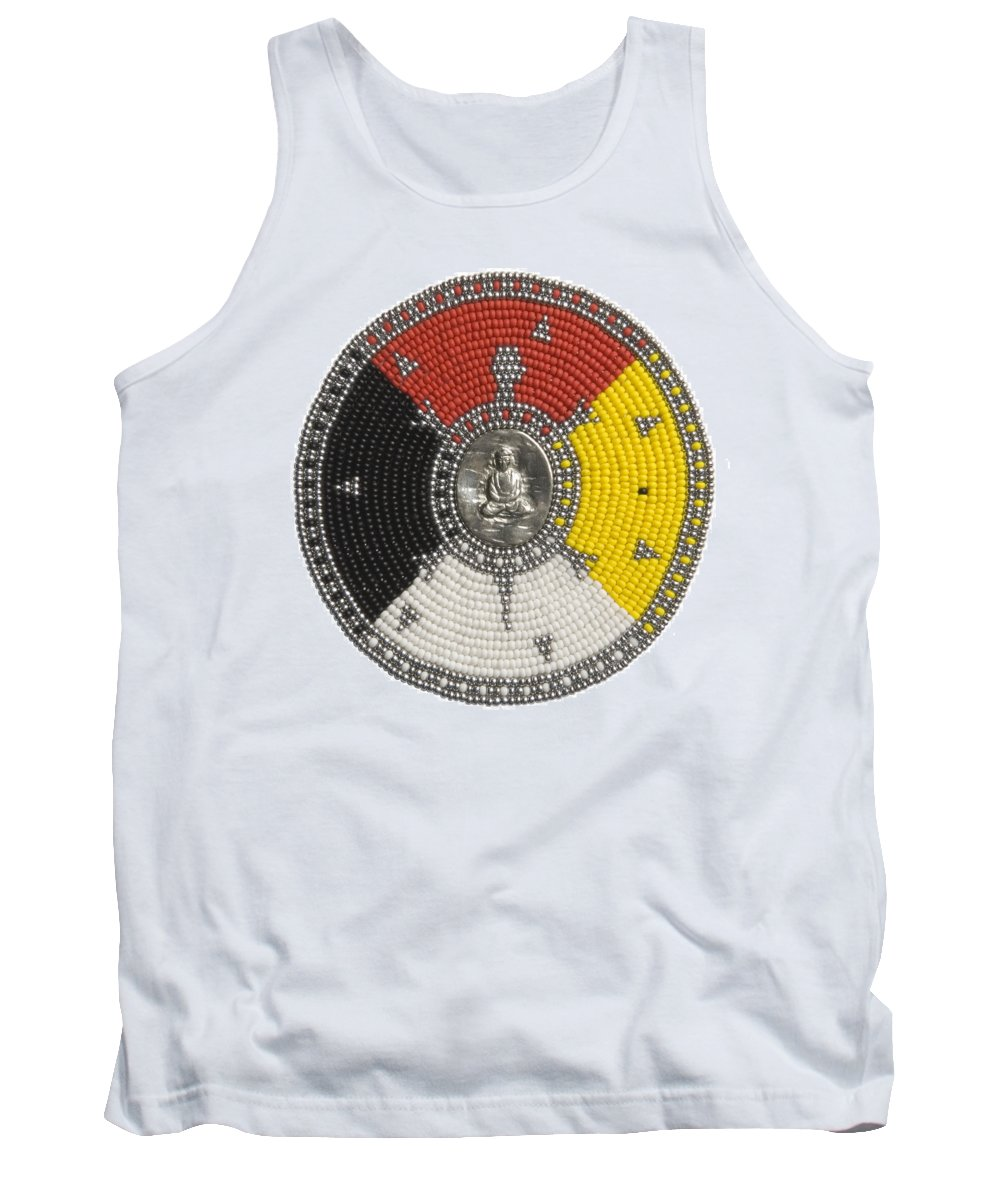 Beadwork Tank Top featuring the mixed media Buddha Turtle by Douglas K Limon