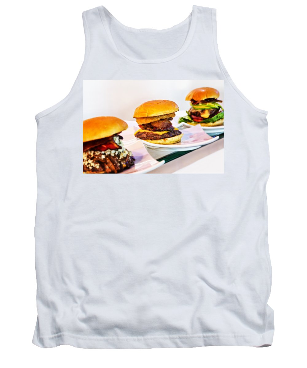 Burgers Tank Top featuring the photograph Burger Time by Kelley King