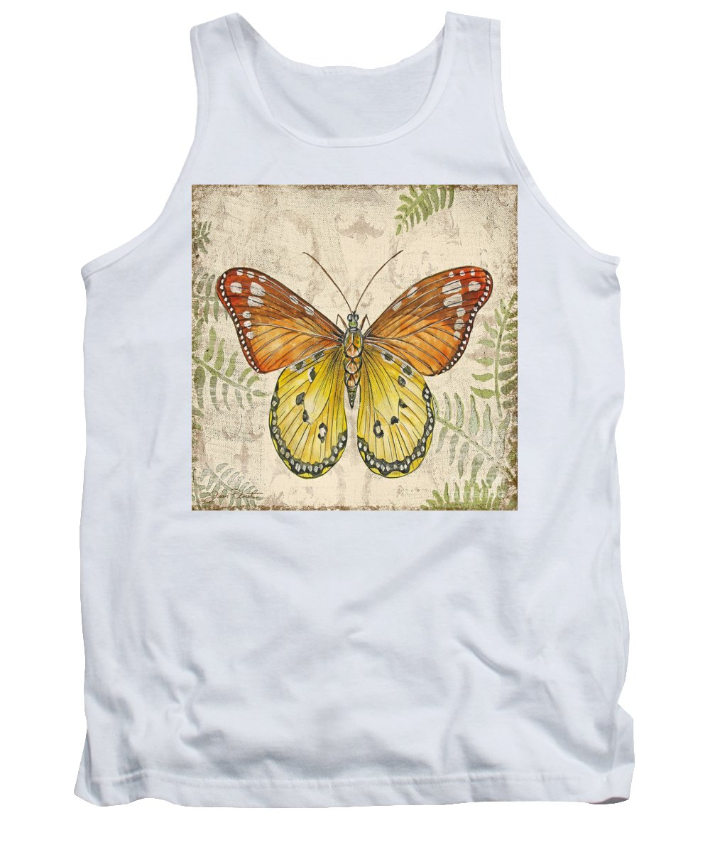 Painting Tank Top featuring the painting Butterfly Daydreams-c by Jean Plout
