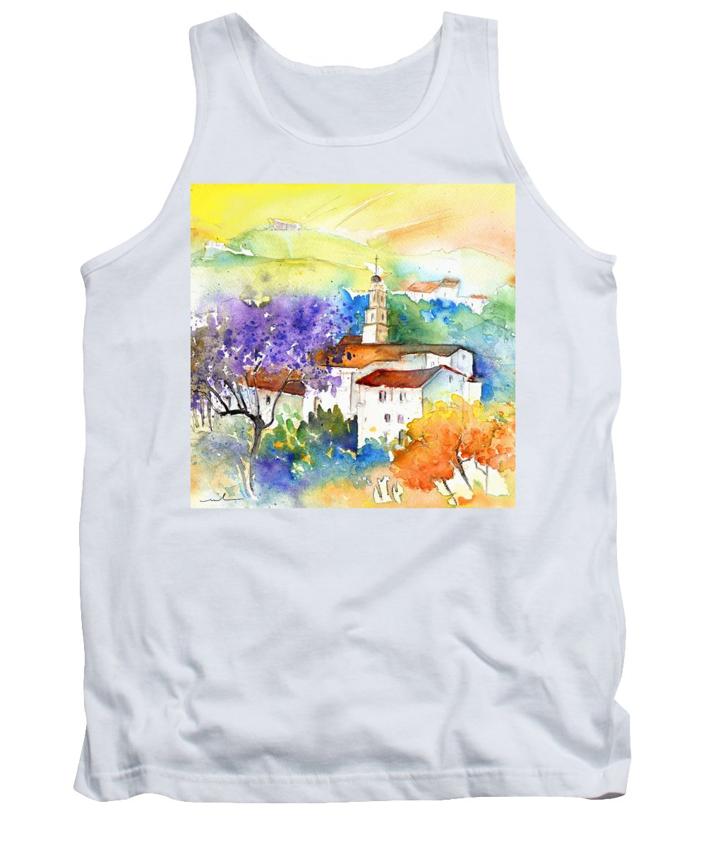 Travel Tank Top featuring the painting By Teruel Spain 02 by Miki De Goodaboom