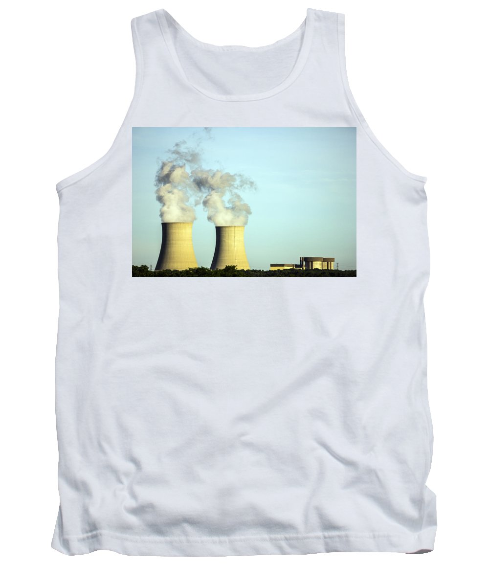 Byron Nuclear Plant Tank Top featuring the photograph Byron Nuclear Plant by Josh Bryant
