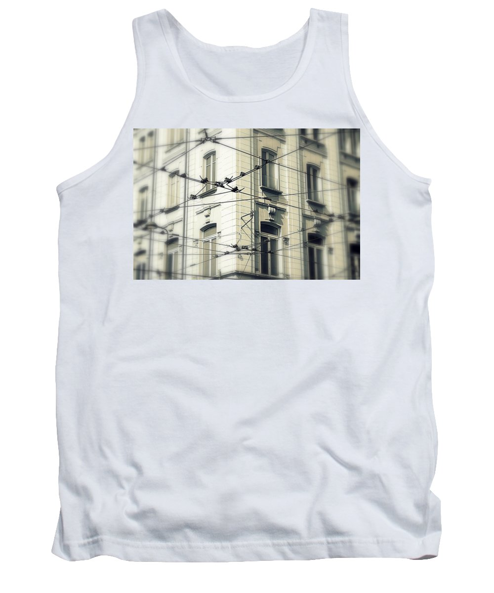 Cable Tank Top featuring the photograph Cables by Valentino Visentini