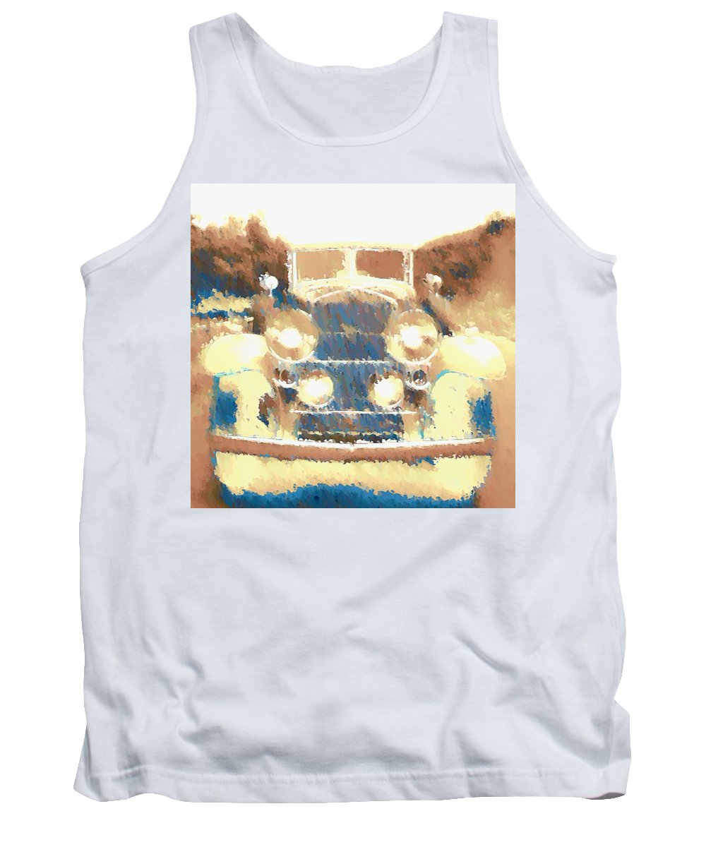 Cadillac Tank Top featuring the digital art Caddy Phaeton by John Madison