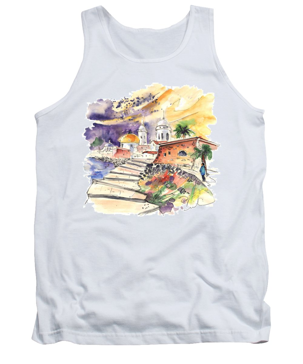 Travel Tank Top featuring the painting Cadiz Spain 01 by Miki De Goodaboom