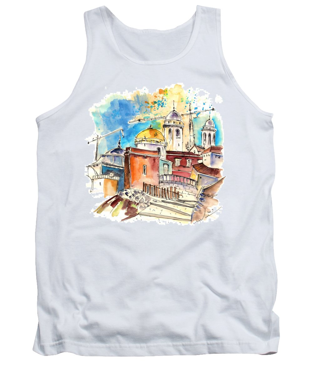 Travel Tank Top featuring the painting Cadiz Spain 02 by Miki De Goodaboom
