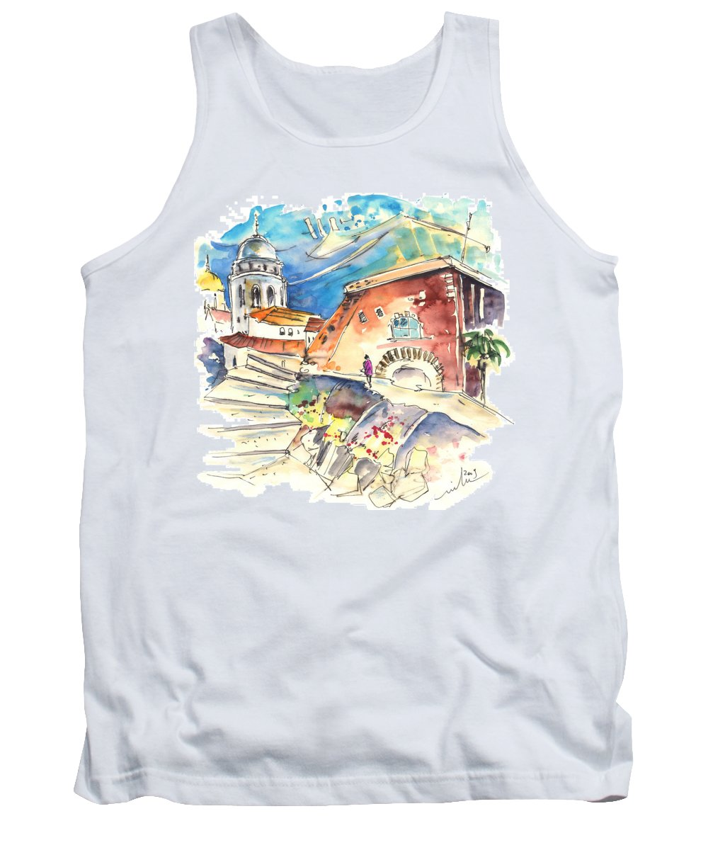Travel Tank Top featuring the painting Cadiz Spain 03 by Miki De Goodaboom