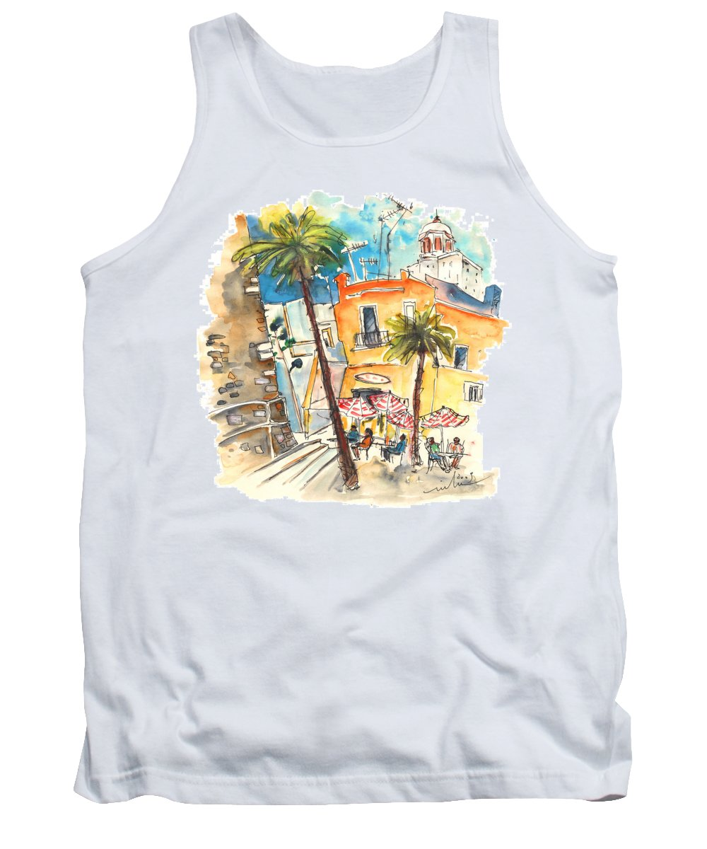 Travel Tank Top featuring the painting Cadiz Spain 04 by Miki De Goodaboom