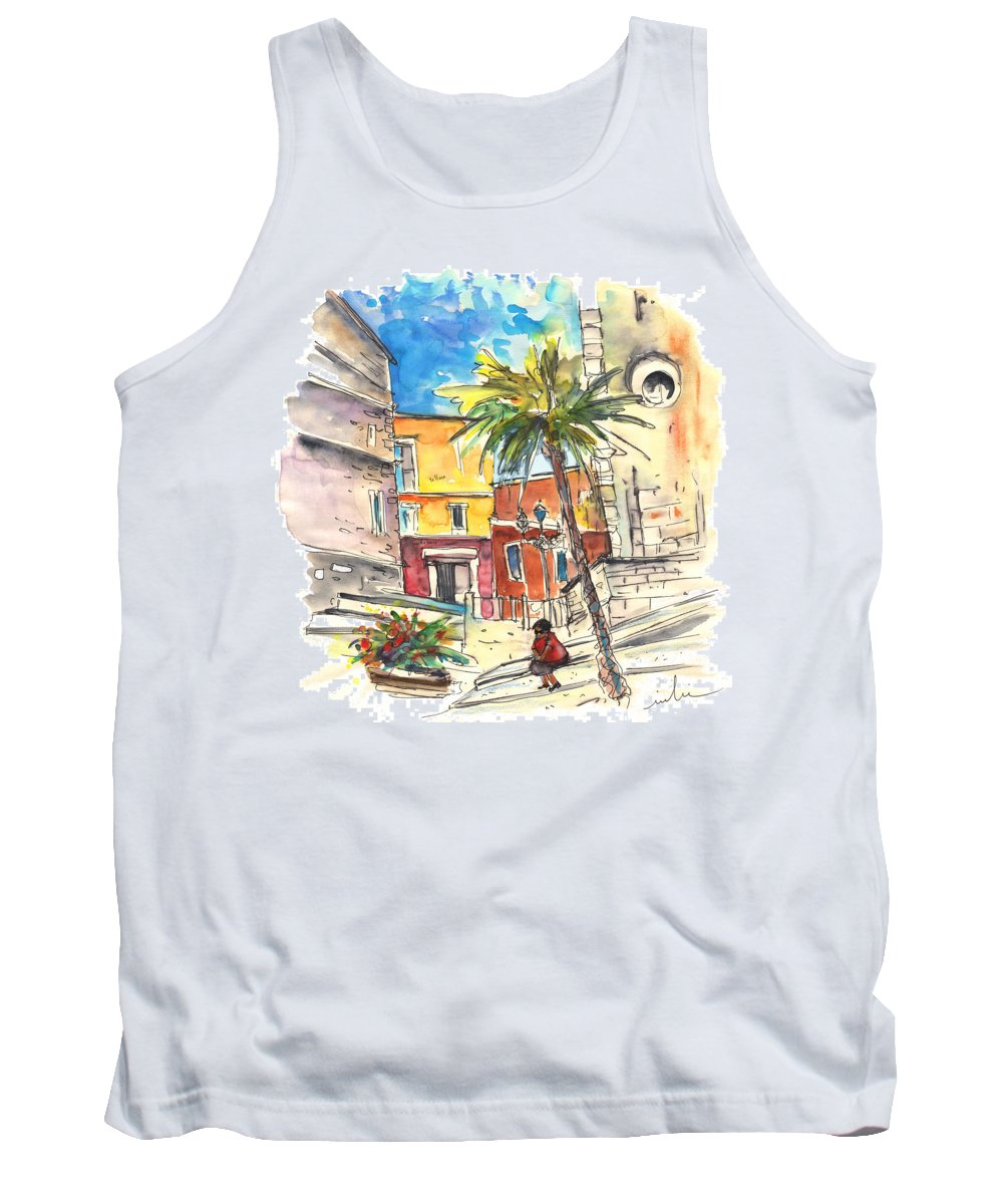 Travel Tank Top featuring the painting Cadiz Spain 05 by Miki De Goodaboom