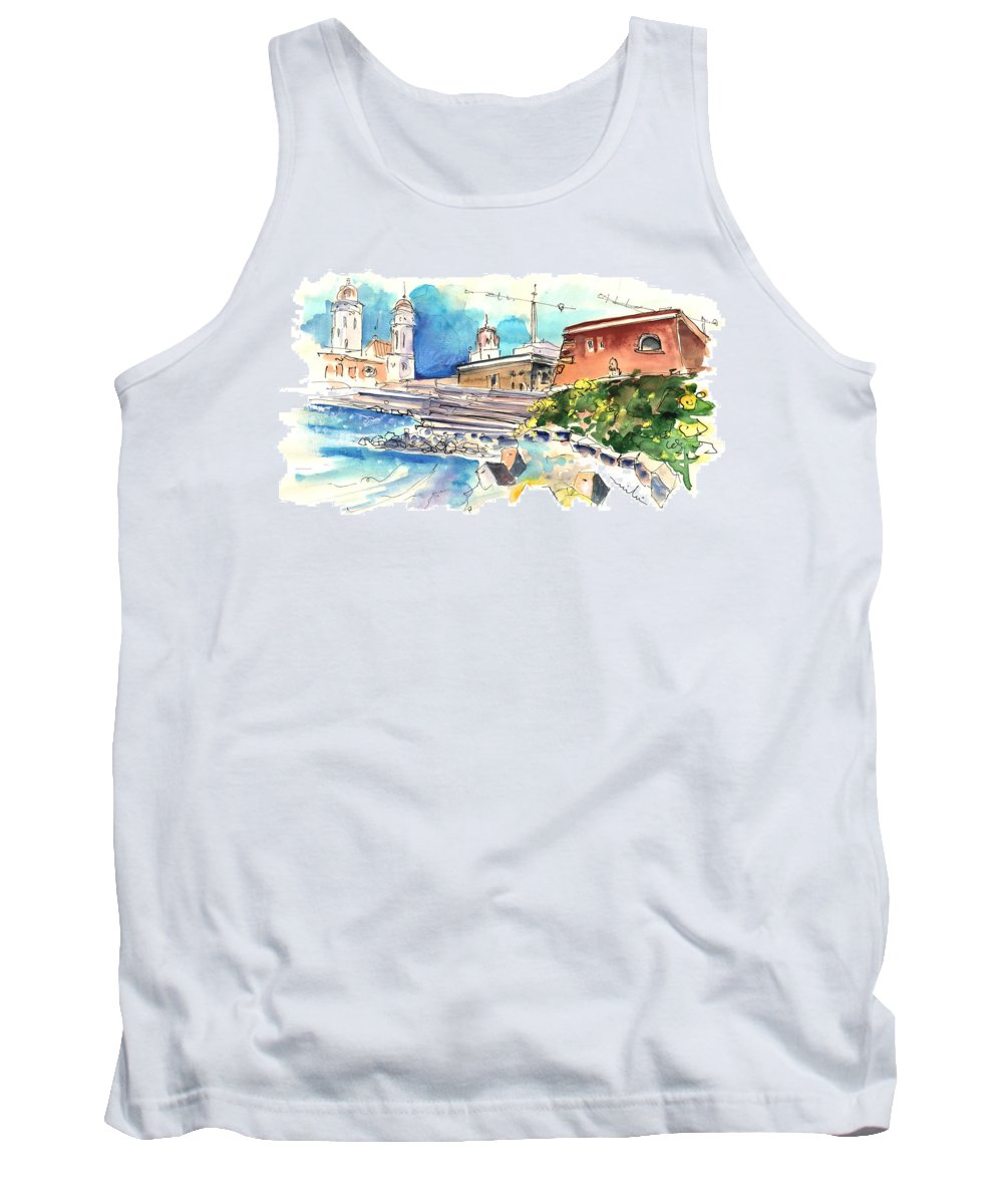 Travel Tank Top featuring the painting Cadiz Spain 11 by Miki De Goodaboom