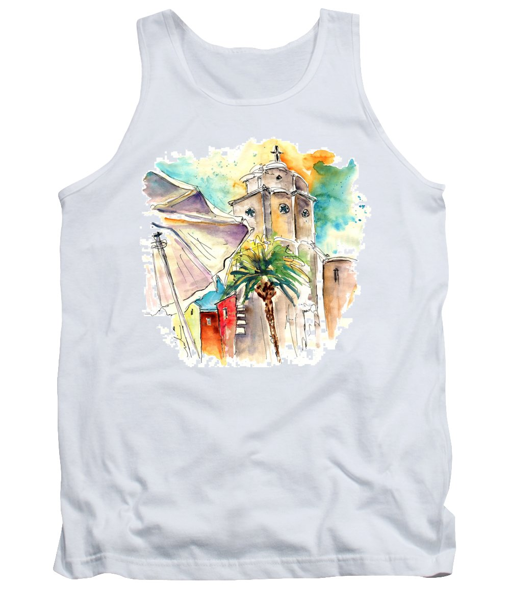 Travel Tank Top featuring the painting Cadiz Spain 12 by Miki De Goodaboom