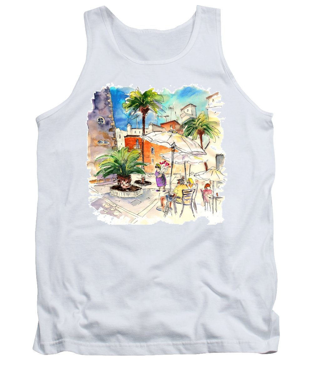 Travel Tank Top featuring the painting Cadiz Spain 13 by Miki De Goodaboom