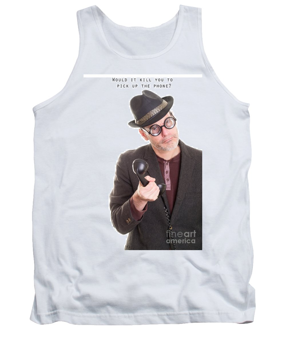 Call Tank Top featuring the photograph Call Me by Edward Fielding