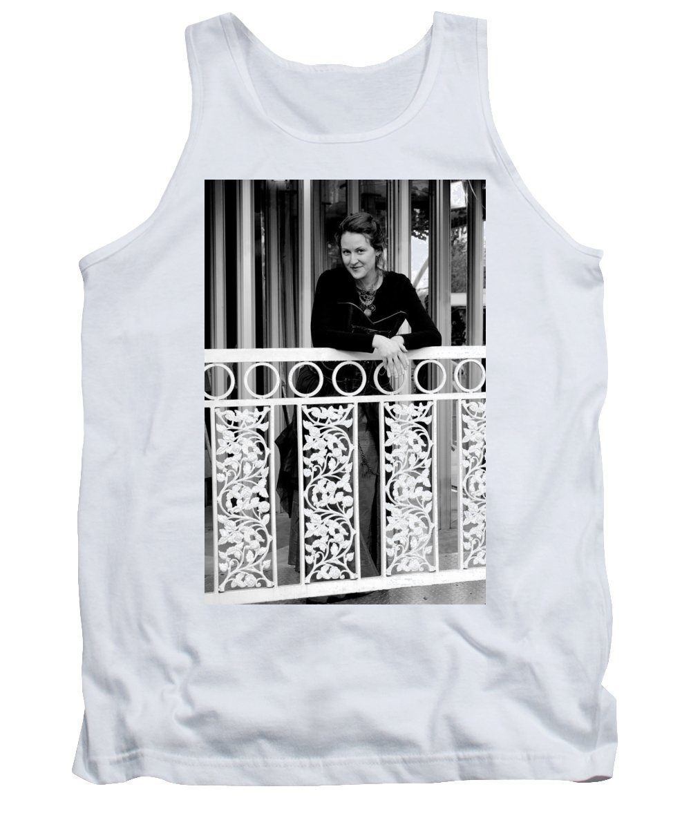 Black And White Tank Top featuring the photograph Calleys Showing Some Class by Teri Schuster