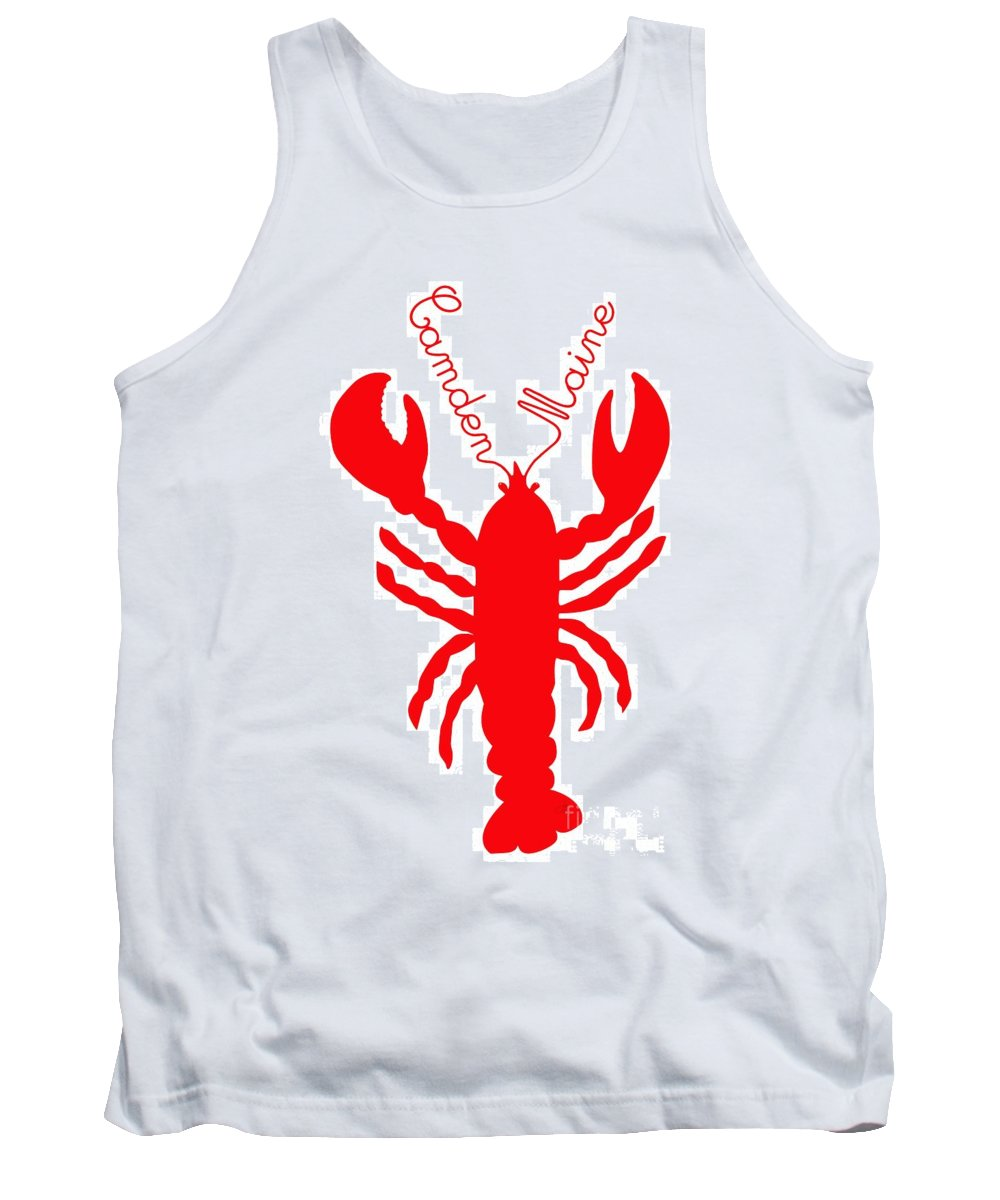 Camden Maine Lobster With Feelers 20150207 � Julie Knapp Tank Top featuring the digital art Camden Maine Lobster With Feelers 20150207 by Julie Knapp