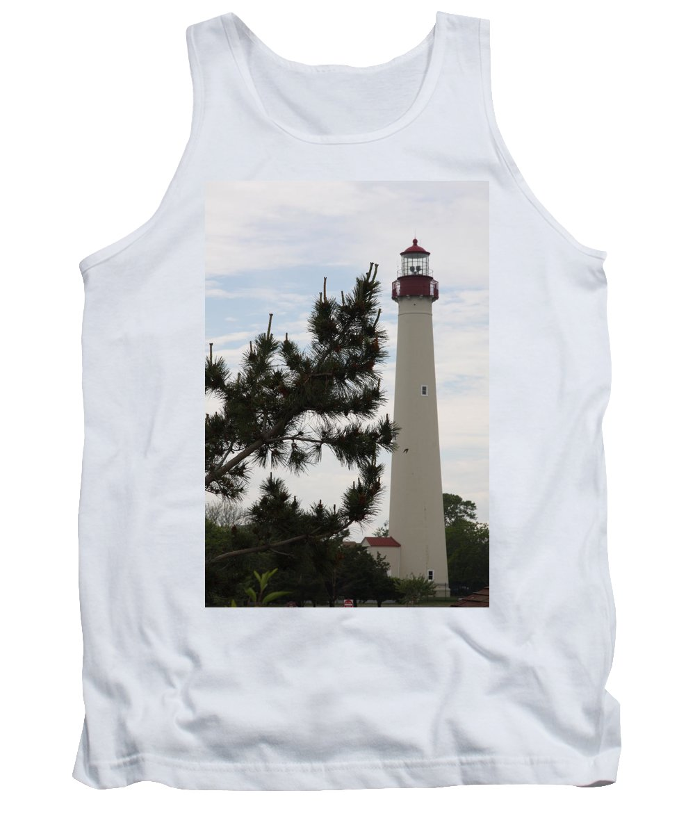 Lighthouse Tank Top featuring the photograph Cape May Lighthouse by Christiane Schulze Art And Photography