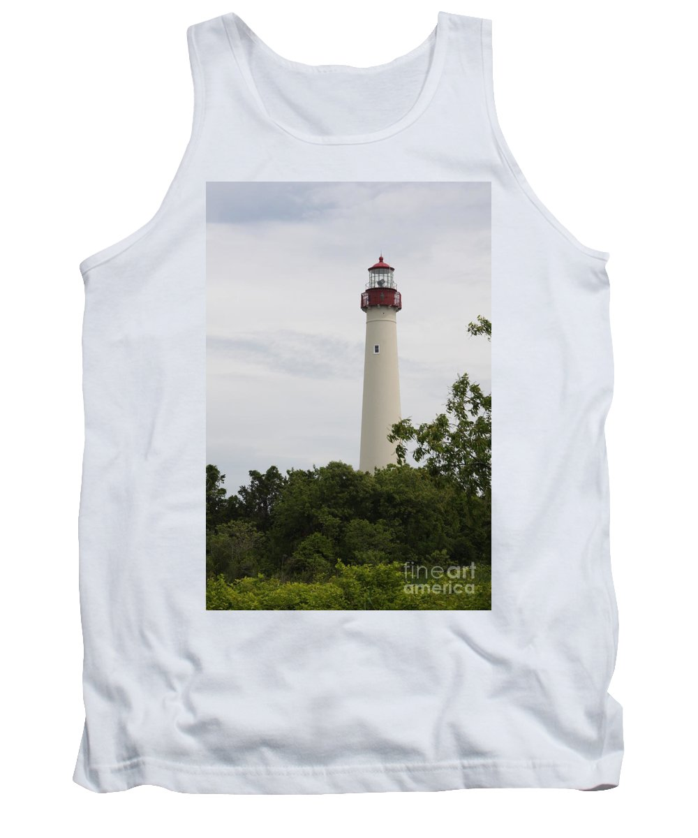 Lighthouse Tank Top featuring the photograph Cape May Lighthouse II by Christiane Schulze Art And Photography