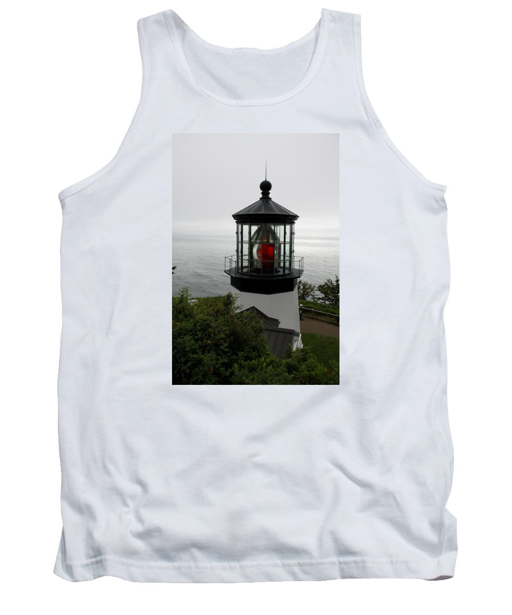 Cape Meares Tank Top featuring the photograph Cape Meares Light by Christiane Schulze Art And Photography