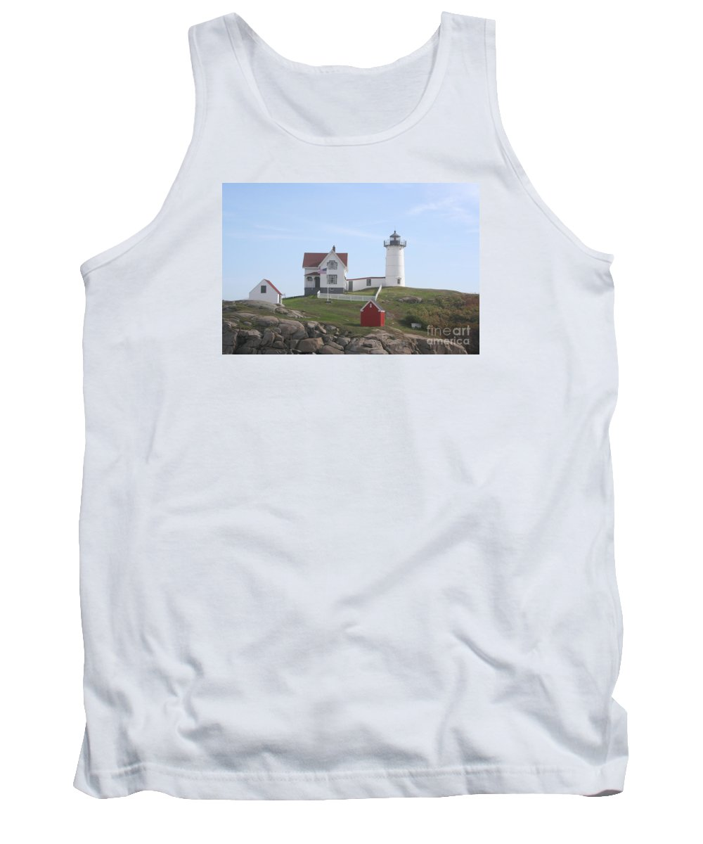 Ligthouse Tank Top featuring the photograph Cape Neddick Lighthouse - Me by Christiane Schulze Art And Photography