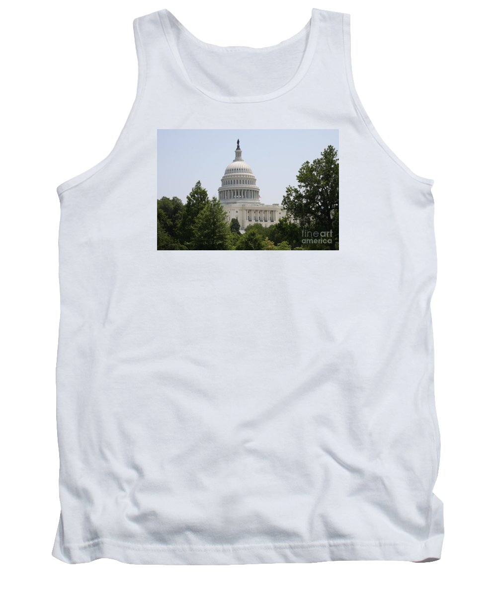 Capitol Tank Top featuring the photograph Capitol Dome Washington Dc by Christiane Schulze Art And Photography