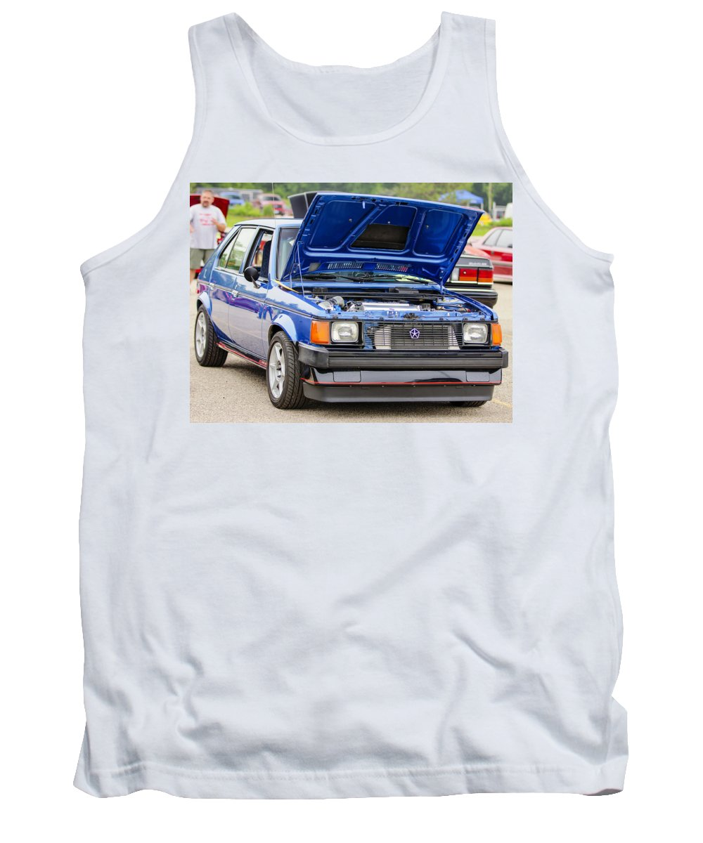 Dodge Omni Glh Turbo Tank Top featuring the photograph Car Show 024 by Josh Bryant