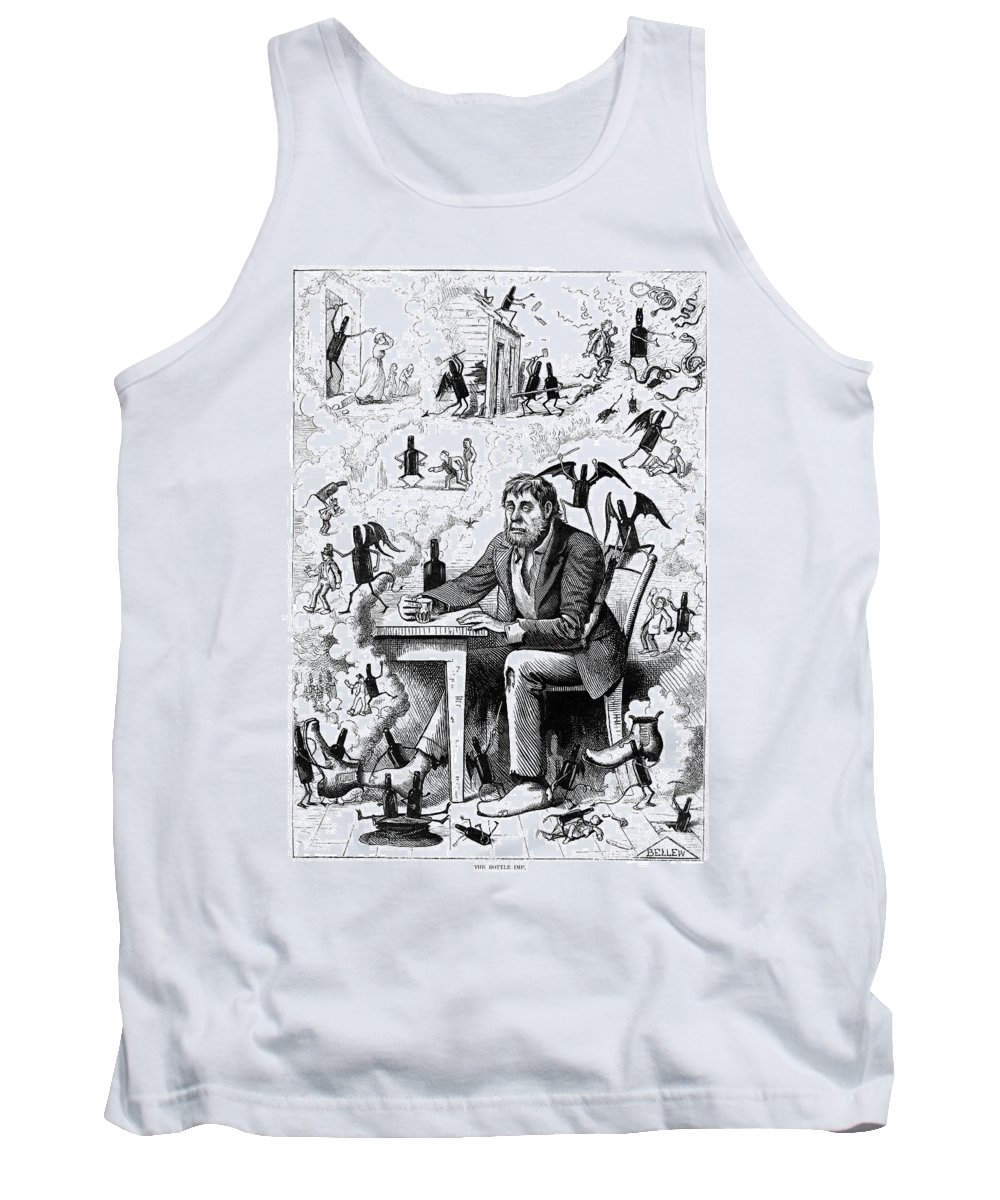 1874 Tank Top featuring the painting Cartoon Alcoholism, 1874 by Granger