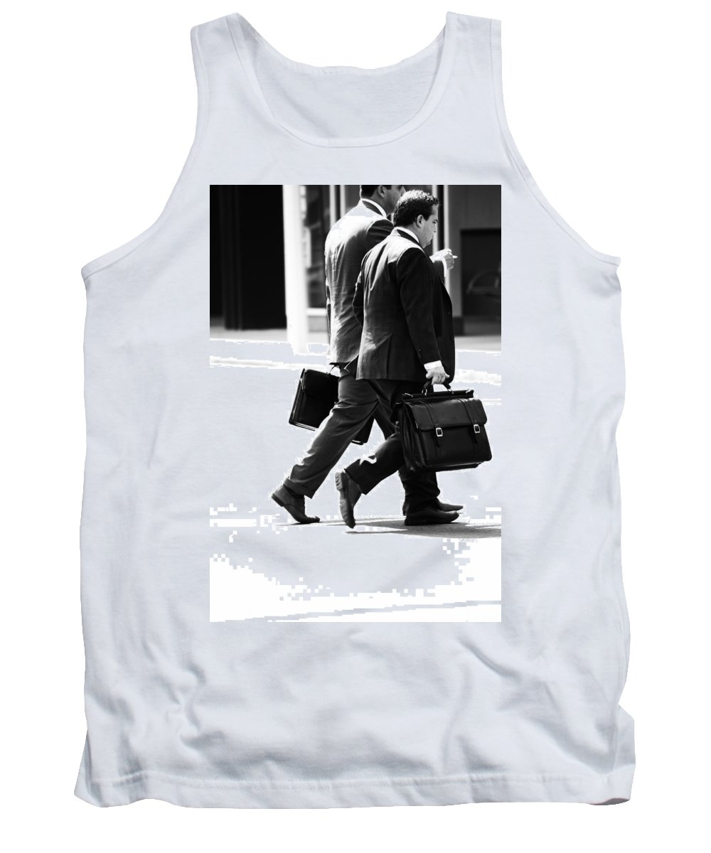 Portraitsfaceblack And Whitestreet Photographypeoplemanhomelessness Tank Top featuring the photograph Case Chase by The Artist Project