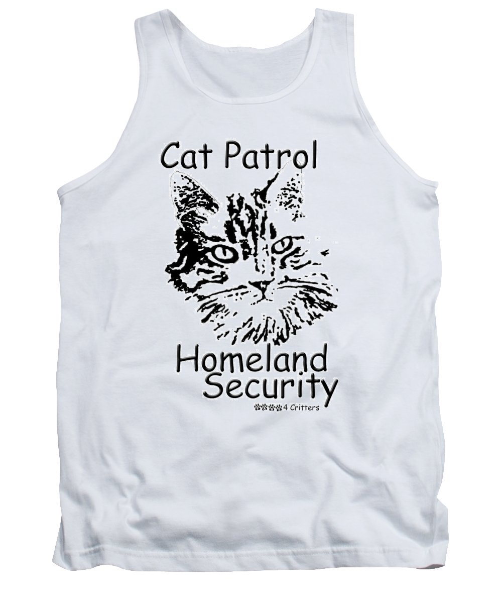 Cat Patrol Tank Top featuring the photograph Cat Patrol Homeland Security by Robyn Stacey