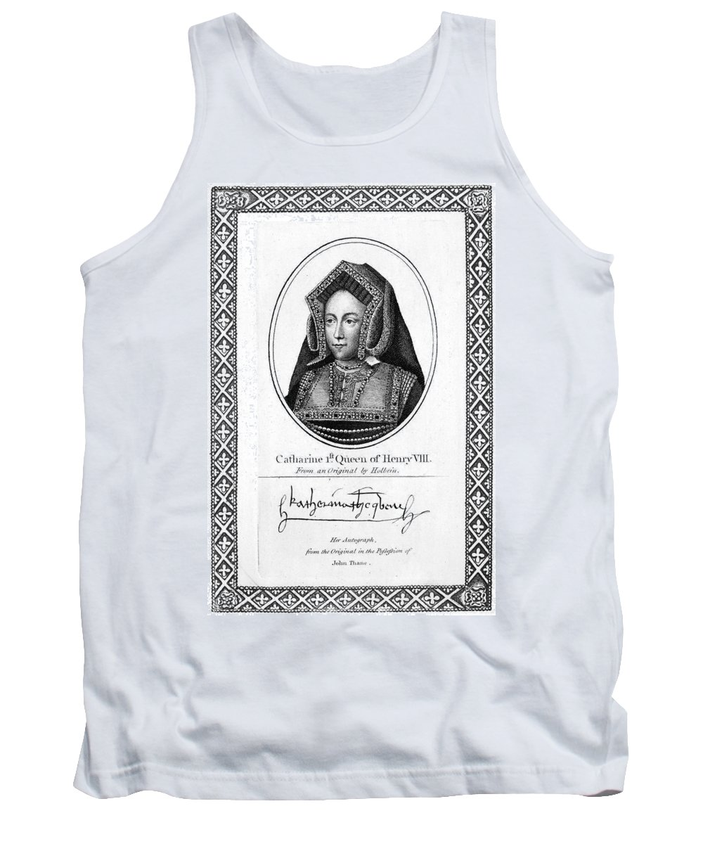 16th Century Tank Top featuring the painting Catherine Of Aragon (1485-1536) by Granger