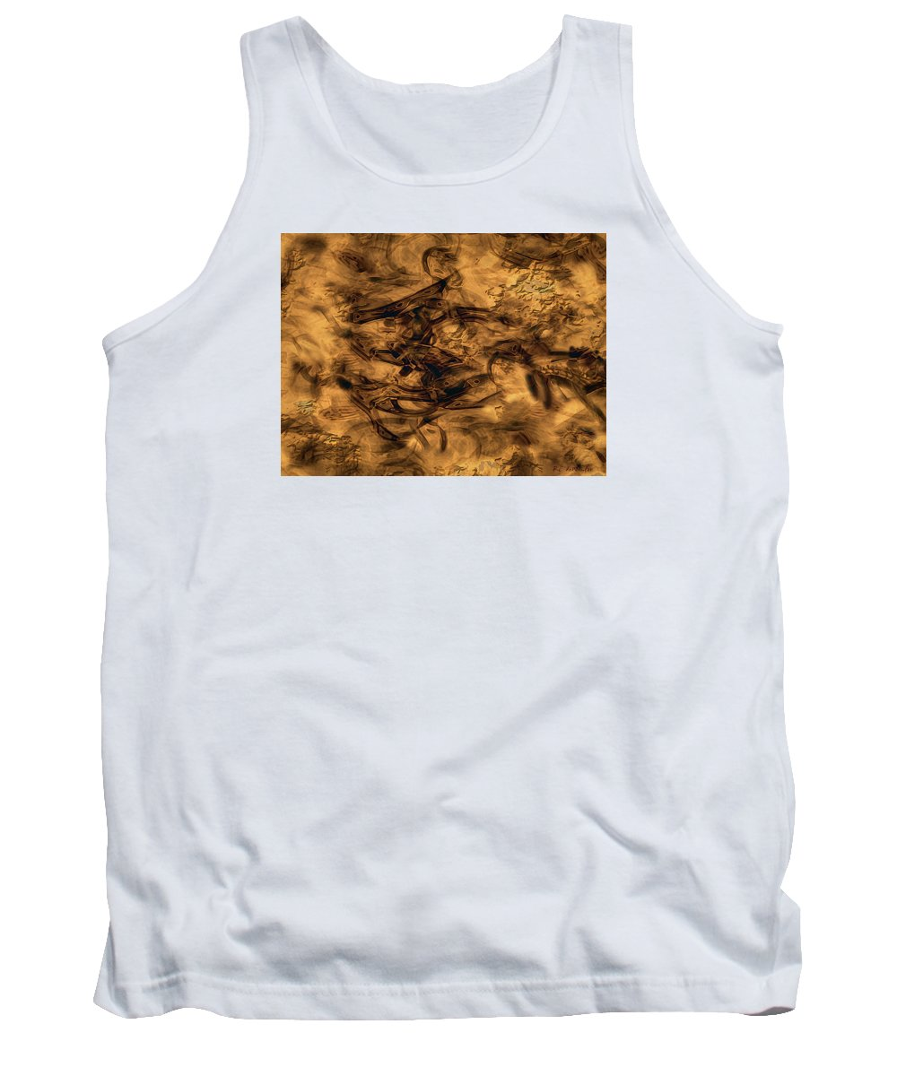Abstract Tank Top featuring the painting Cave Painting by RC DeWinter