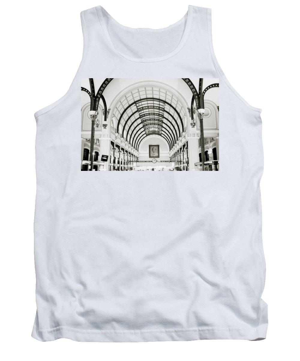Asia Tank Top featuring the photograph Central Post Office Saigon by Shaun Higson