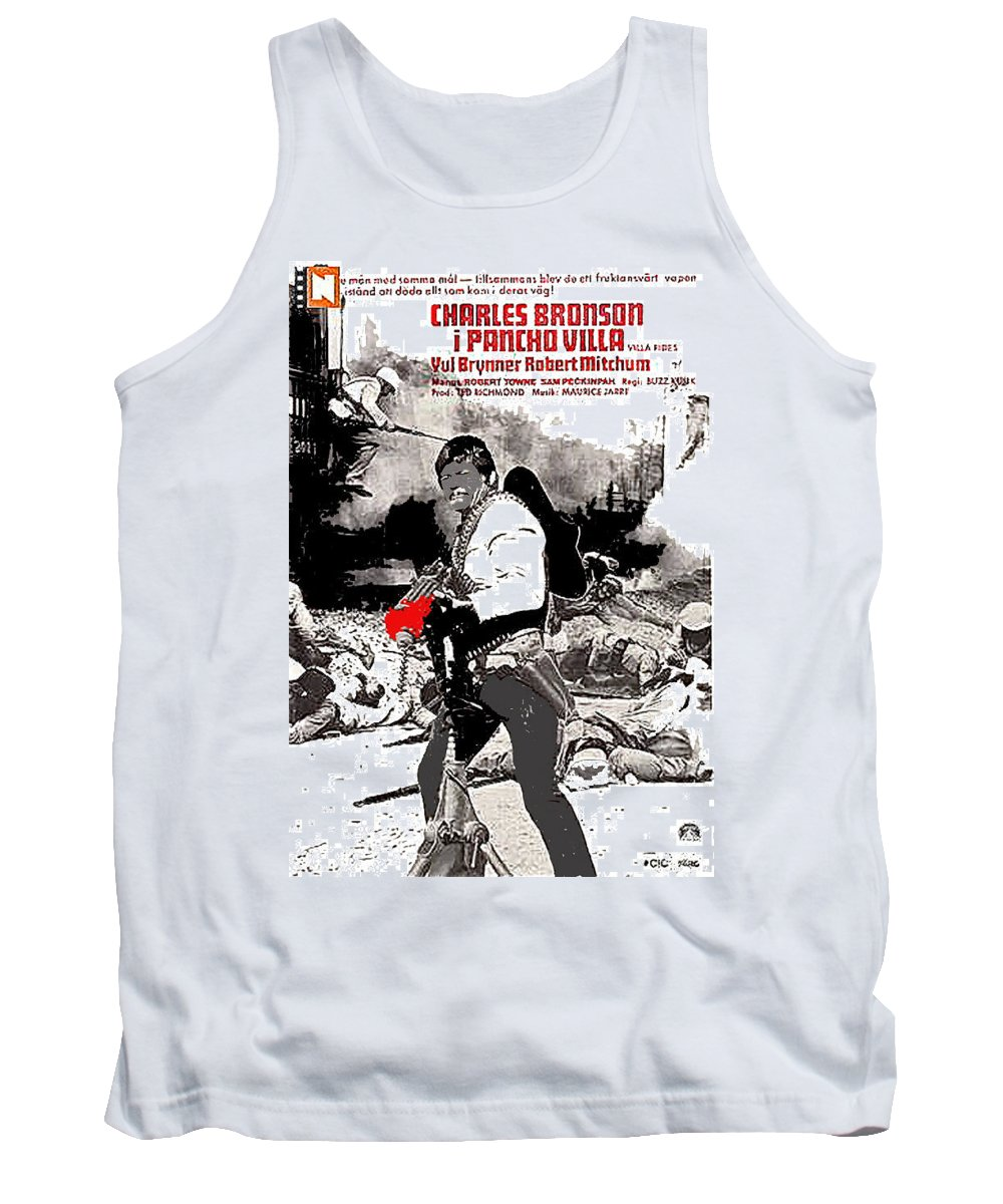 Charles Bronson Plays The Murderous Rodolfo Fierro In Viva Rides 1968 Tank Top featuring the photograph Charles Bronson Plays The Murderous Rodolfo Fierro In Viva Rides 1968-2013 by David Lee Guss