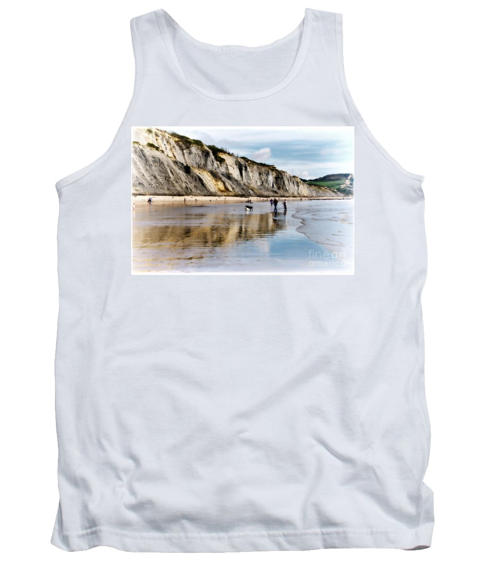 Charmouth Tank Top featuring the photograph Charmouth Beach by Susie Peek