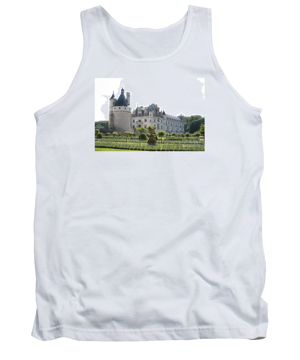 Castle Tank Top featuring the photograph Chateau Chenonceau And Garden by Christiane Schulze Art And Photography
