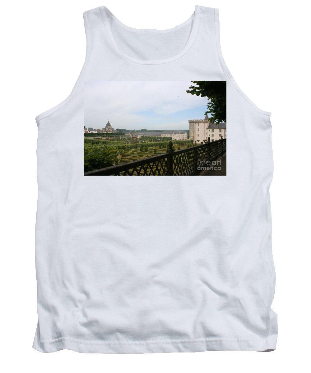 Garden Tank Top featuring the photograph Chateau Vilandry And Garden View by Christiane Schulze Art And Photography