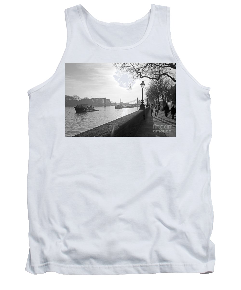 Chelsea Tank Top featuring the photograph Chelsea Embankment London Uk 3 by Julia Gavin