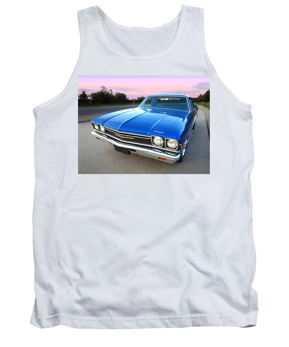 Chevrolet Truck Tank Top featuring the photograph Chevrolet El Camino At Sunset by Gill Billington
