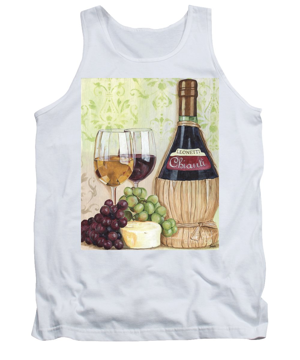 Wine Tank Top featuring the painting Chianti And Friends by Debbie DeWitt