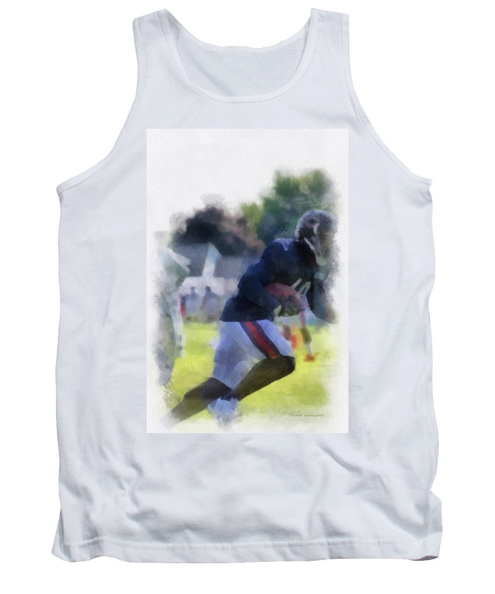 Chicago Bears Tank Top featuring the photograph Chicago Bears Wr Micheal Spurlock Training Camp 2014 04 Pa 01 by Thomas Woolworth