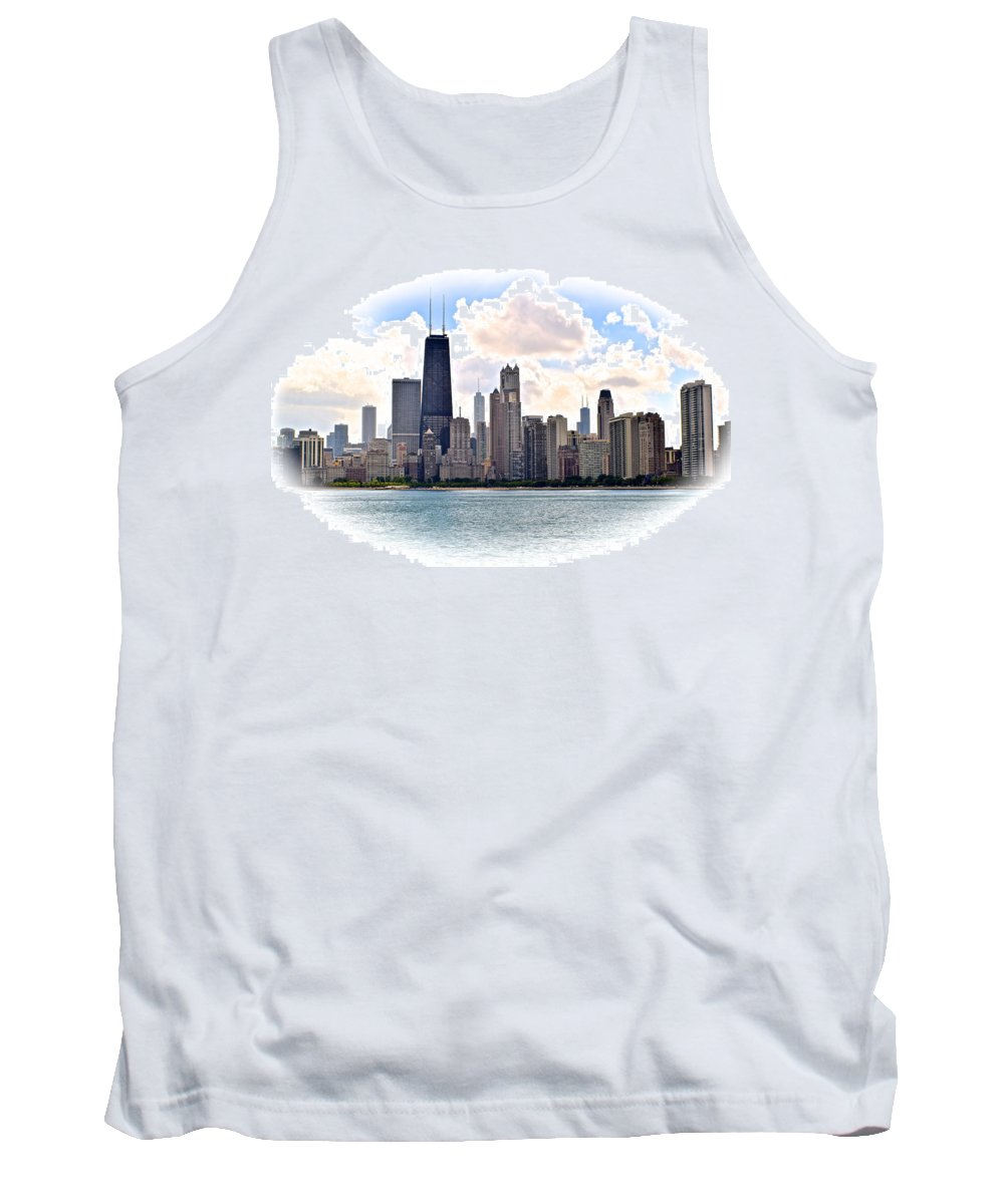 Chicago Tank Top featuring the photograph Chicago In The Spotlight by Frozen in Time Fine Art Photography