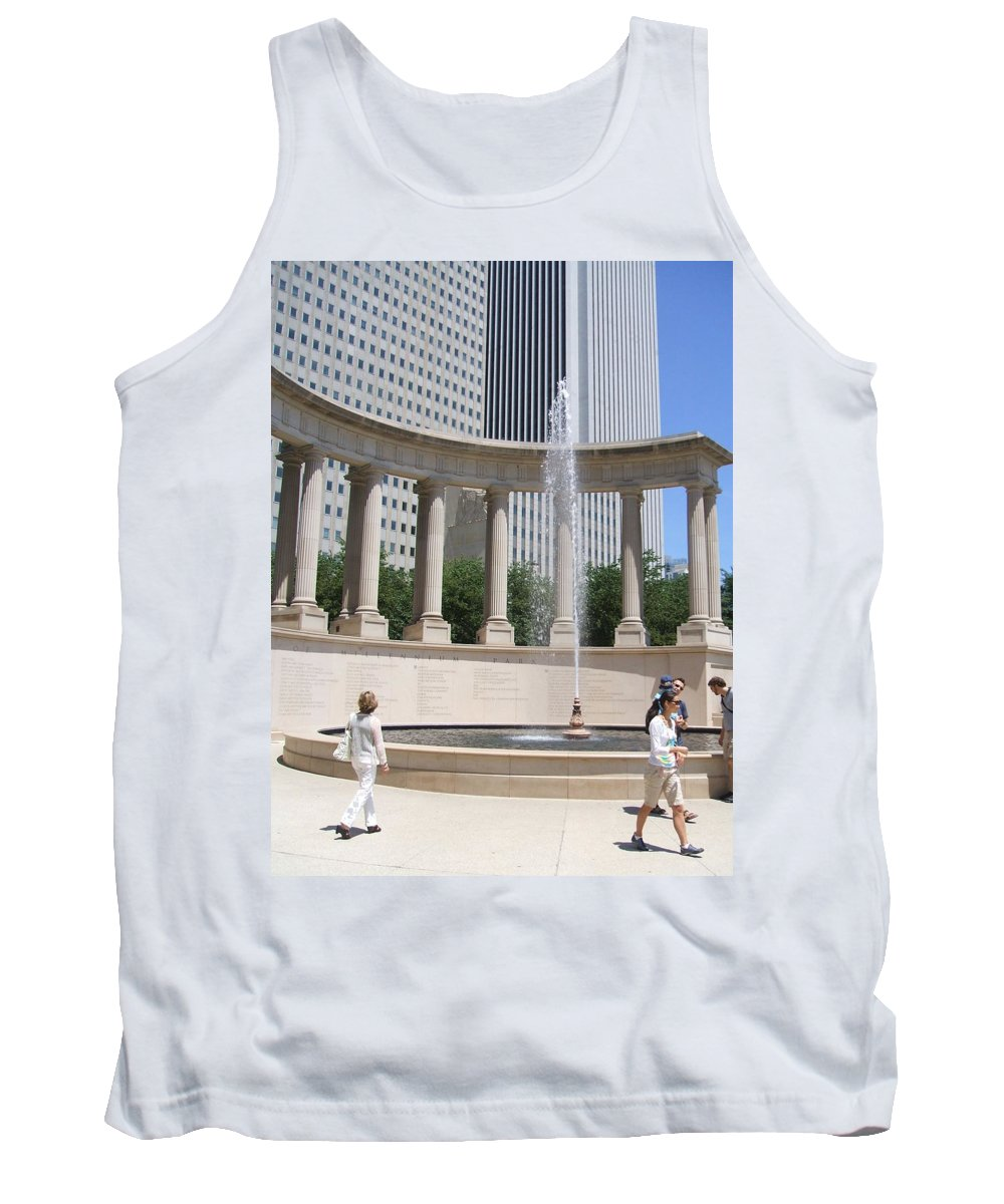 Chicago Tank Top featuring the photograph Chicago Tourism by Minding My Visions by Adri and Ray