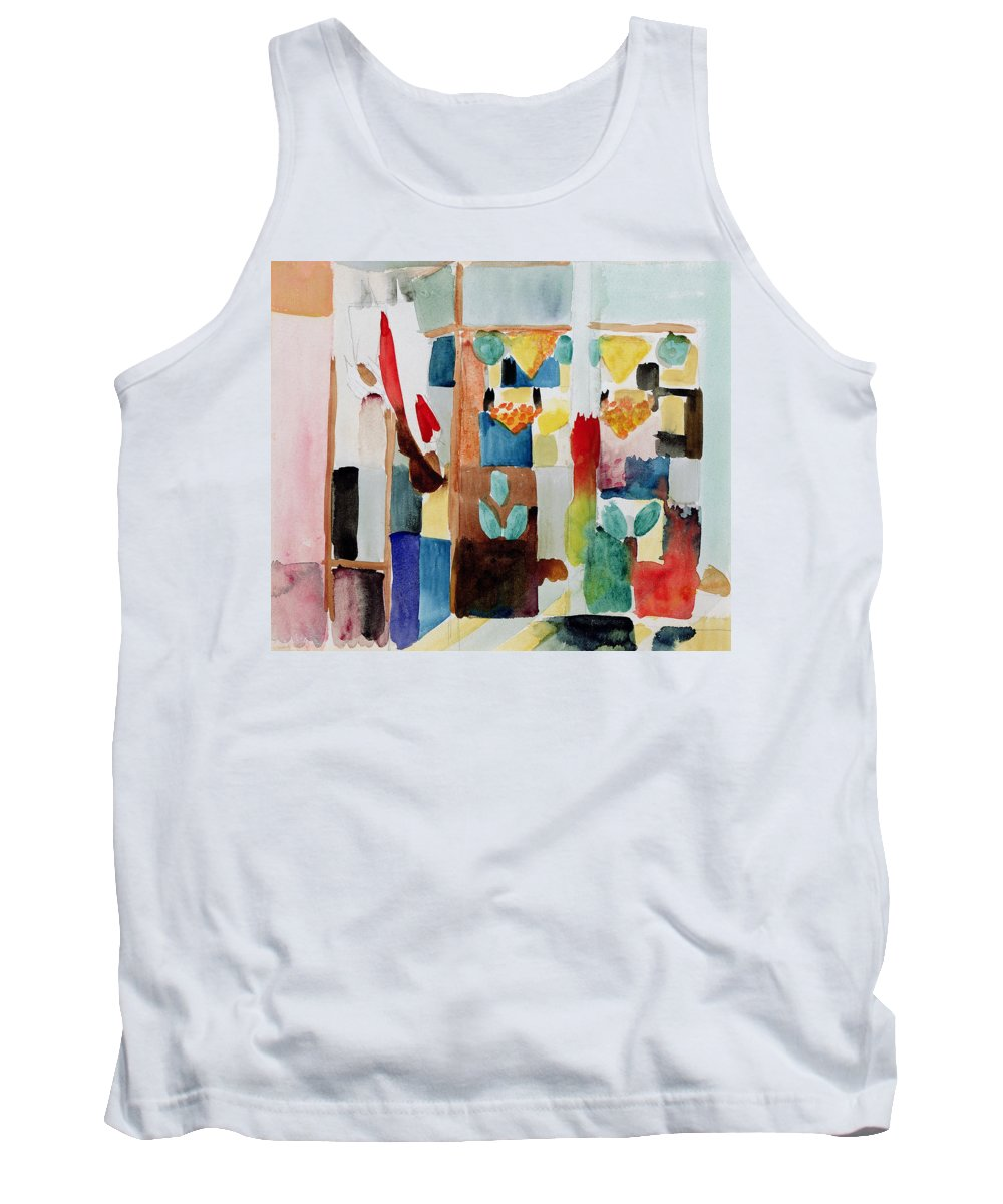 Franc Tank Top featuring the painting Children At The Greengrocers I by Franz Marc