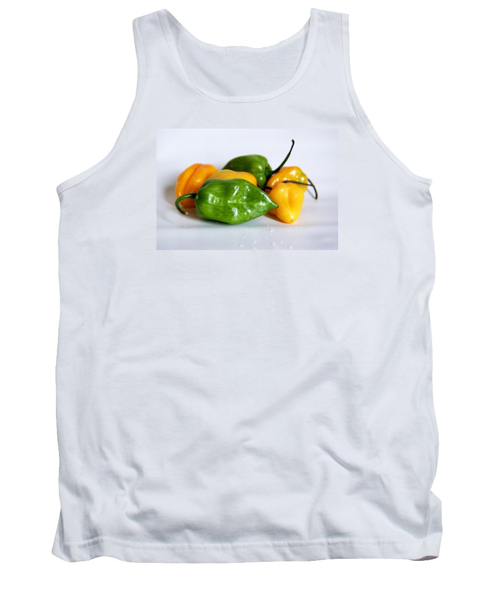 Wet Tank Top featuring the photograph Chili Peppers by FL collection